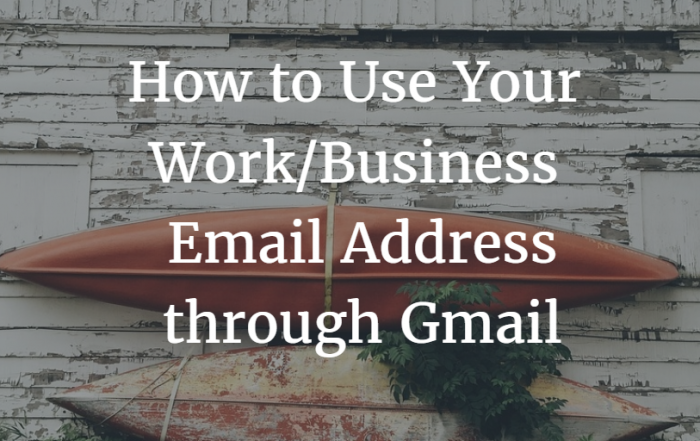 Work Business Email with Gmail